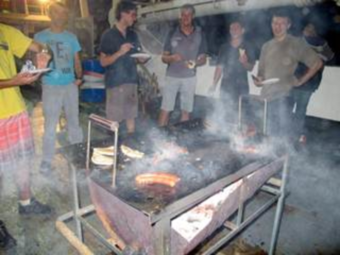 Barbecue sur la plage arrière